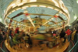 blurred merry go round